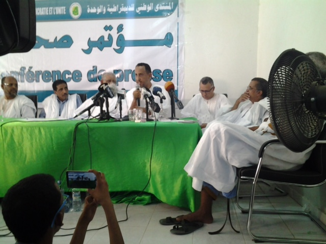 Conférence de presse du FNDU : Ould Ghadda explique comment un regrettable accident se transforme en scénario d'« espionnage»