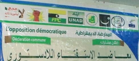 OPPOSITION DEMOCRATIQUE MAURITANIENNE: Déclaration