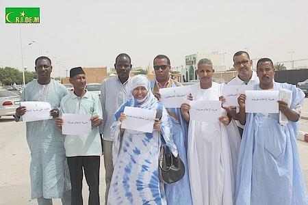 Journalistes en sit-in de protestation