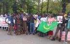 Soutien aux détenus d'IRA: Manifestation devant l'Assemblée Nationale en France