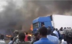 Incendie au marché Socim : Un camion marocain en fumée, des dégâts importants