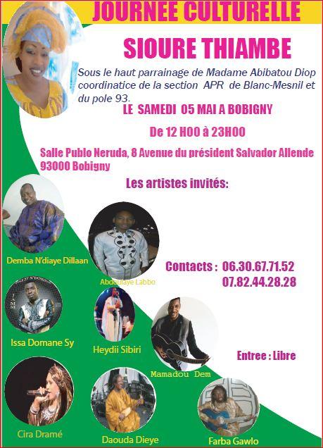 Journée Culturelle Siouré Thiambés en France