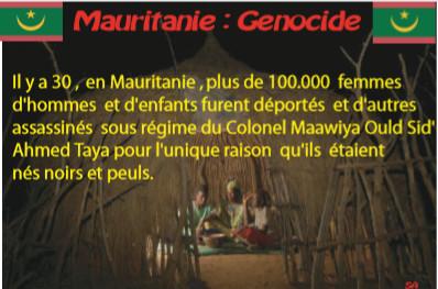 Mauritanie : Génocide