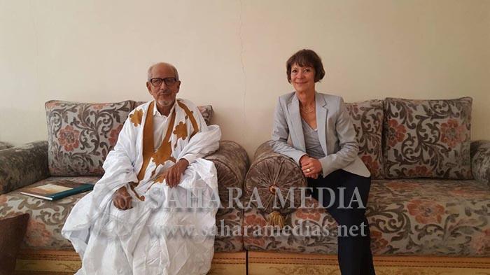 L'ancien président Sidi Mohamed O. Cheikh Abdallahi a reçu l'ambassadrice d'Allemagne
