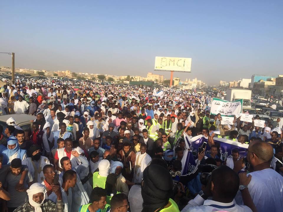 Imposante marche de l'opposition pour une élection présidentielle transparente