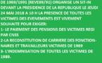 APPEL A UN SIT-IN DEVANT LA PRÉSIDENCE DE LA RÉPUBLIQUE