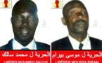 """Moussa Bilal Biram et Abdallahi Matala Saleck sont libres après avoir purgé """"totalement"""" leur peine"""